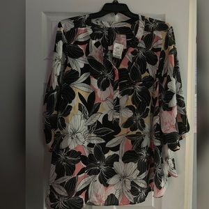 NYD Black Floral Blouse